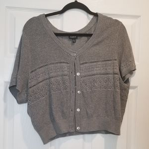 Torrid Grey Short sleeve Knitted Shrug